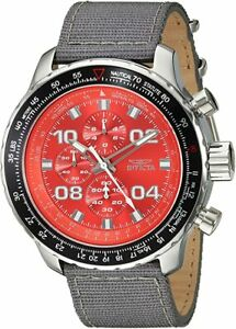 Invicta Men's 18780SYB Aviator Stainless Steel Watch with Grey Nylon Band