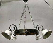 Lampadario rustico in ferro battuto e legno mod. Ruota cucina tavernetta rustici