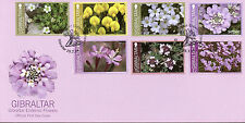 Gibraltar 2014 FDC Endemic Flowers 7v Set Cover Flora Campion Lavender Thyme