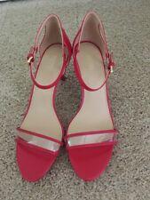NIB - Michael Kors Simone Mid Sandal Patent Bright Red - Size 9 M