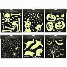 Halloween Glow In The Dark Autocollants Night Lights Up House Party Décoration Accessoires
