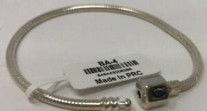 "Chamilia Sterling Silver Snap Bracelet 7.9"" BA-4 New! Authentic"