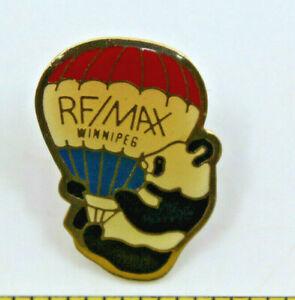 Remax Real Estate Winnipeg Manitoba Panda Hot Air Balloon Pin Pinback Button