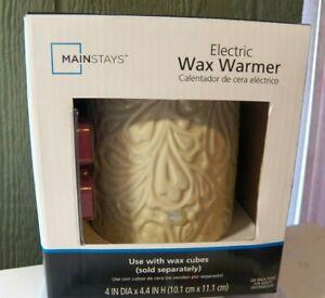 Mainstays Electric Wax Warmer White Brand New IOB w Wax Cubes