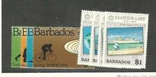 Barbados, Postage Stamp, #623-630 Mint Hinged, 1984 Olympics, Ships