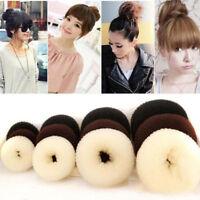 4 Sizes Hair Styling Donut Bun Maker Ring Style Bun Scrunchy Sock Poof Bump LIU9