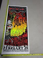 2002 Rock & Roll Concert Poster Static X Mike Fisher S/N LE Washington DC