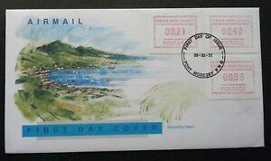 Papua New Guinea ATM 1991 Beach (Frama Label stamp FDC) *rare