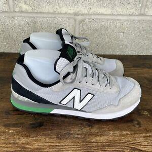 New Balance 515 Suede Men's Sneaker Size 8.5 Gray Black Green ML515CGS