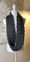 Womens Chunky Knit Infinity Scarves Lot of 2- 1 Gray 1 Rose Beautiful See Photos