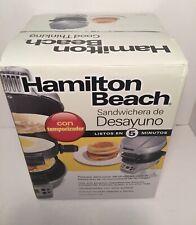 Hamilton Beach 25478 Breakfast Sandwich Maker with Timer, Silver/Gray
