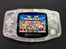 CLEAR Nintendo Gameboy Advance GBA Backlight Modded with Glass Screen