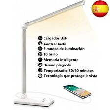 Lámpara Escritorio LED, Flexo de Escritorio (Cuidado Ocular, Puerto USB, 5