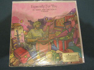 Vintage Greetings Card with story record. Ali Baba & 40 thieves. Especialy for U