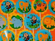30 SAFARI JUNGLE NOAH ANIMALS Cupcake Toppers Bday Party  Favors, Baby Shower 30