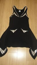 Sass & Bide knit dress row of buttons metallic panels EU 40 US 4 UK 8/10 vintage