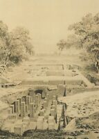 Sussex Postcard - Drawing of Bignor Roman Villa RR8903