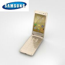 New Samsung Galaxy Folder 2 Android Flip Up Phone Unlocked Dual SIM G1650 Gold