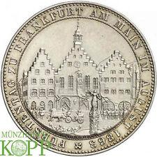 G927) Frankfurt-Stadt Taler 1863 Fürstentag