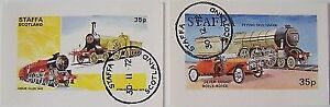 Staffa 1972 - 2 Mini sheets Locomotivs used