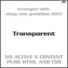 Transparent eBay Auction Listing Template Design Responsive