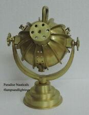 Minimalist Industrial Steampunk Desk Lamp Brass Raw Finish