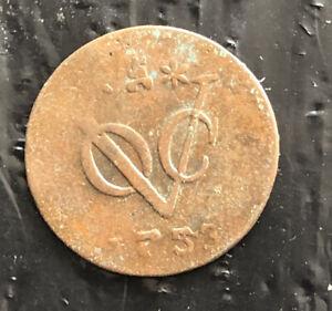 NETHERLANDS EAST INDIES 1753 1 DUIT COPPER ZEELAND VERY NICE COIN L3