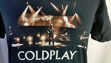 COLDPLAY 2006 TWISTED LOGIC TOUR  BAND CONCERT  T-SHIRT in BLACK COTTON