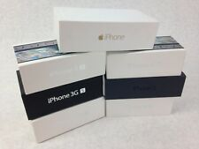 Lot (7) Apple iPhone Empty Retail Boxes, Models 3GS (2), 4S (3), 5, 6 No Phones