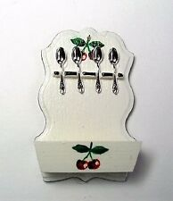 Miniature dollhouse cherry pattern spoon rack 1:12 scale