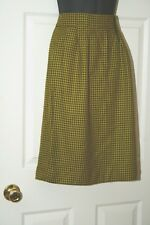 Jones New York, vintage, hounds tooth, skirt, wool, lined, olive and mustard, 4