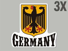 3 Germany Deutschland shaped sticker flag crest decal car bike Stickers CN054