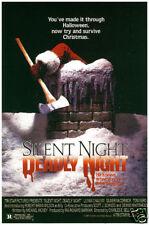 Silent night deadly night cult horror movie poster print