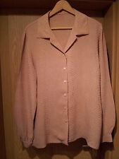 Damenbluse Gr. L (40/42) in Krokooptik, beige, A MANO, Party