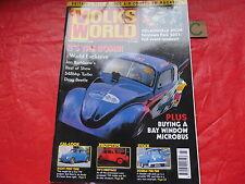 VOLKS WORLD VW MAGAZINE July 2001 548 TURBO DRAG BEETLE-PICK UP-CAL LOOK-BAY BUS