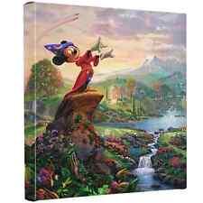 """Thomas Kinkade Gallery Wrap Fantasia 14""""x14"""" Wrapped Canvas Mickey Mouse Disney"""