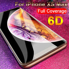 For iPhone Xs Max XR 8 7 6s Plus 6D Curved Tempered Glass Screen Protector Guard