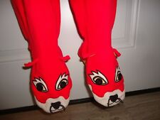 Nick Nora Sly Red Foxy Fox Footed Sleeper Footed 1pc Pajama Warm Winter fleece