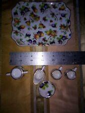 Porcelin 6 Piece Miniature Tea Set Fruit Design