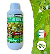 Olio di Neem - insetticida naturale biologico solubile in acqua - 1 litro