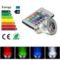 16 Color Changing Magic Light E27 3W RGB LED Lamp Bulb + IR Remote Controller