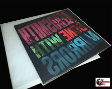 100 FUNDAS BLANDAS SLIM DE PLASTICO PROTECCION DISCOS DE VINILO LP  32 x 32 cm