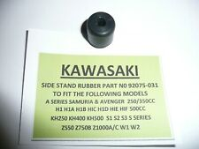 KAWASAKI 1970s  Z750B TWIN CYL MODEL'S SIDE STAND RUBBER PART NUMBER 92075-031