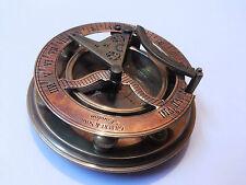 Antique Style Round Brass Sundial Compass Marine Collectible Decor