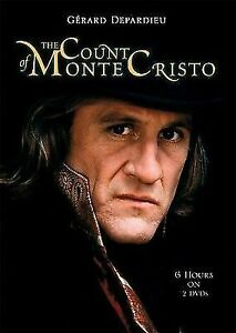 The Count of Monte Cristo DVD 1998 Gerard Depardieu 7 HOURS (2 DISC SET)
