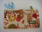 Lily Bloom Forest Owl Large Travel Wallet with Removable Coin Purse New