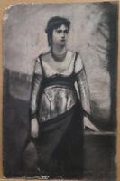 Zeichnung Antike Porträt Dame Frau Maler Pierre Duteurtre Spruch Prüfling BM53.1