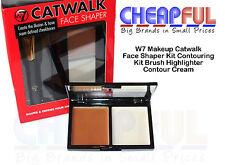 W7 Makeup Catwalk Face Shaper Kit Contouring Kit Brush Highlighter Contour Cream