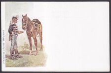 MILITARE MILITAIRE MILITARY BELGIQUE 02 - 1er CHASSEUR A CHEVAL Cartolina 1900