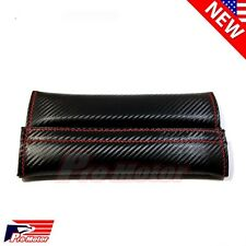Seat Belt Cover Luxury Carbon Fiber Style Shoulder Pad Cushion Safe Protector